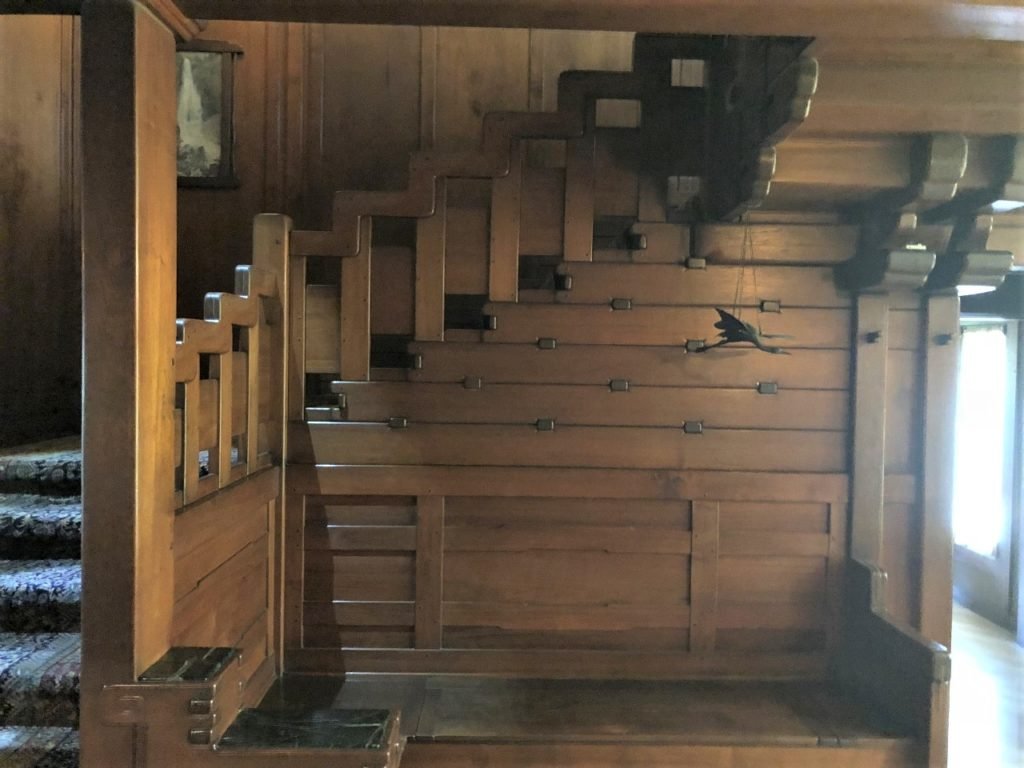 The Gamble House staircase