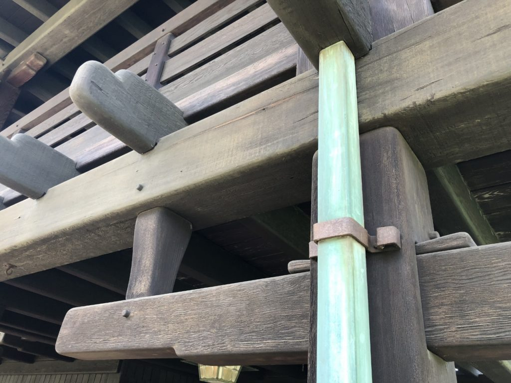 The Gamble House beam mortise and tenon detail